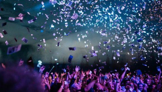 feest, party, confetti